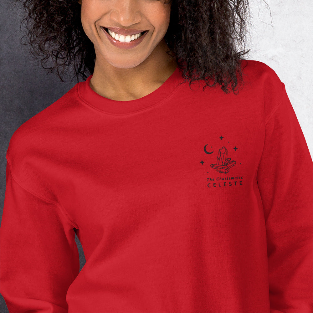 Celeste Sweatshirt | Personalized Name Embroidered Pullover Crewneck