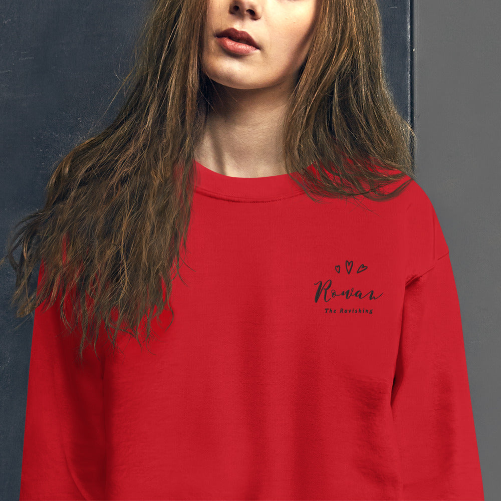 Rowan Sweatshirt | Personalized Name Embroidered Pullover Crewneck