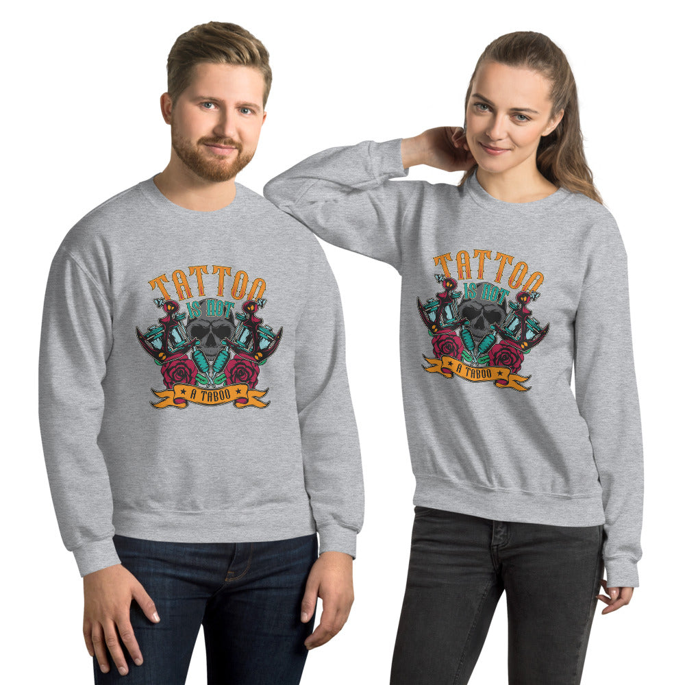 Tattoo is Not a Taboo Crewneck Sweatshirt for Women