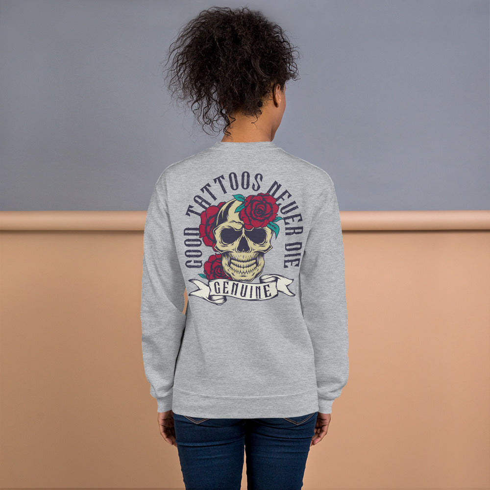 Good Tattoo Never Die Crewneck Sweatshirt for Women