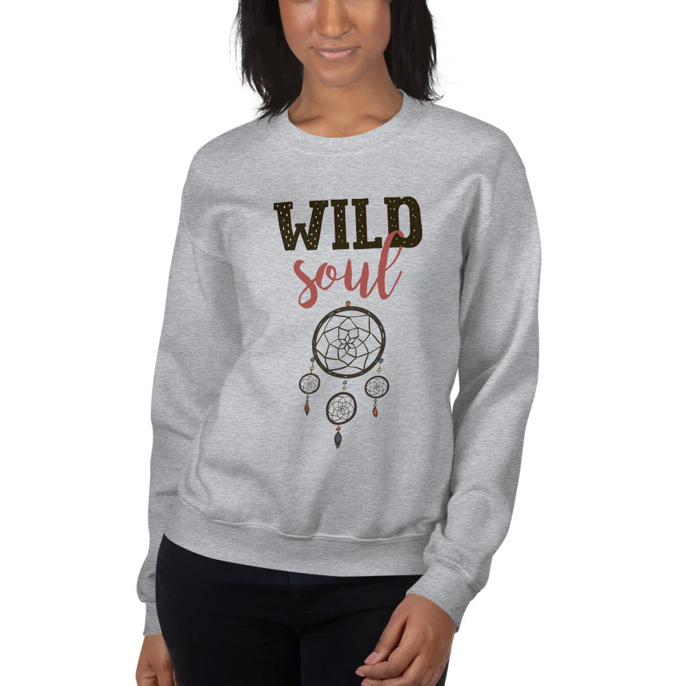 Wild Soul Dream Catcher Crewneck Sweatshirt