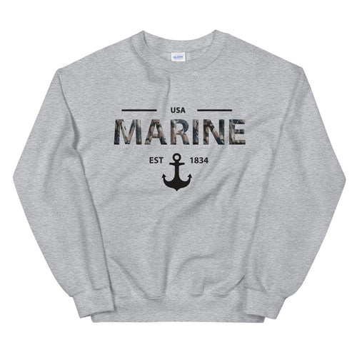 Marine Girlfriend Sweatshirt | USA Marine Crew Neck for Women