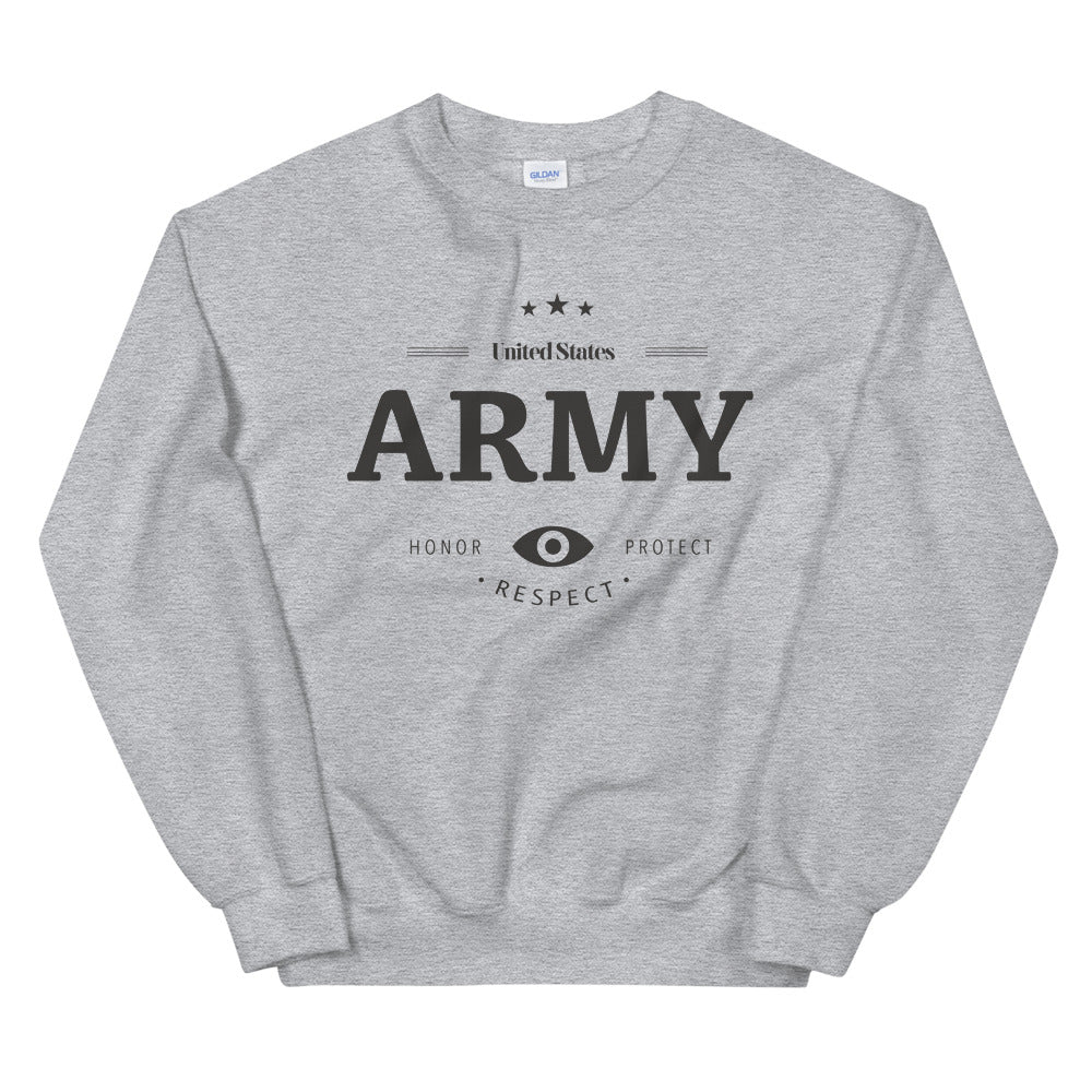 Army Girlfriend Sweatshirt | Honor, Respect & Protect Crewneck for Women