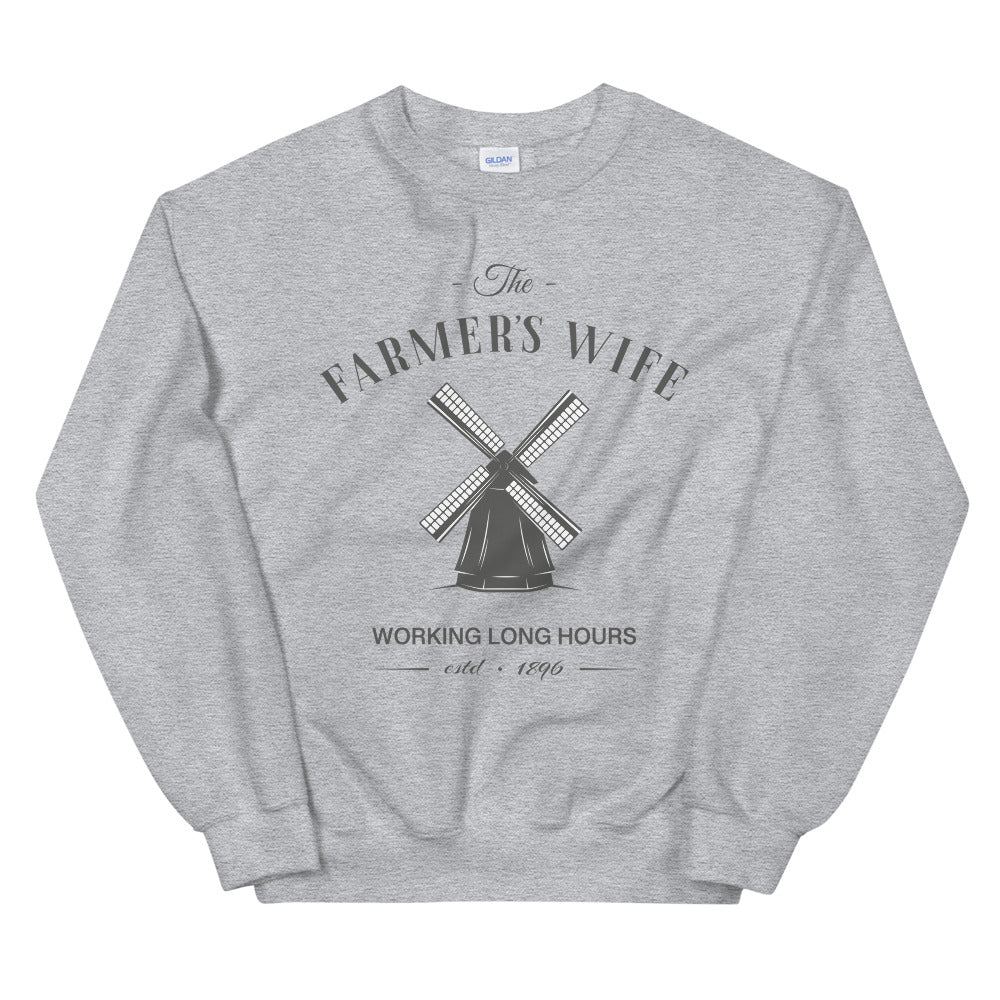 The Farmer's Wife Crewneck Sweatshirt for Farm Wife