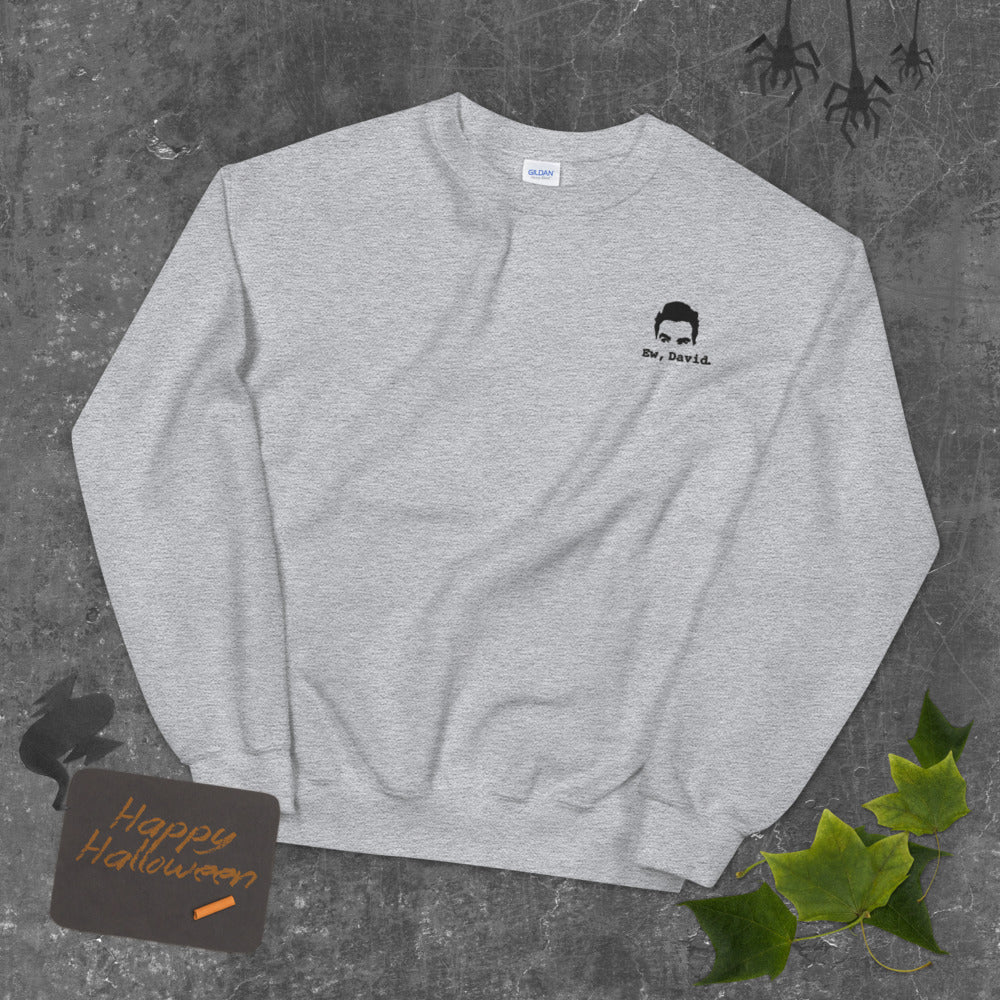 Ew David Sweatshirt Custom Embroidered Pullover Crewneck