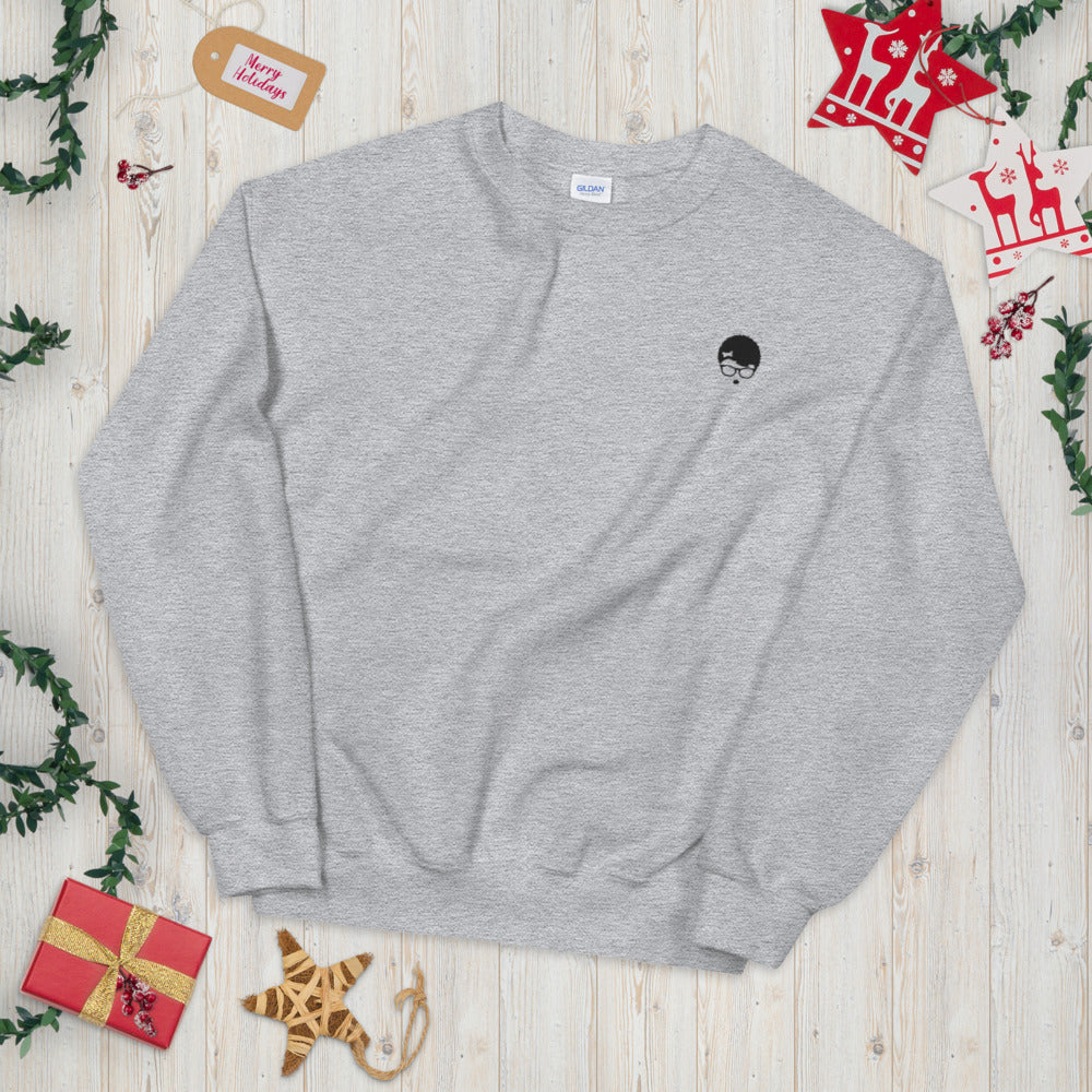 Afo Hipster Sweatshirt Embroidered Free Spirit Pullover Crewneck