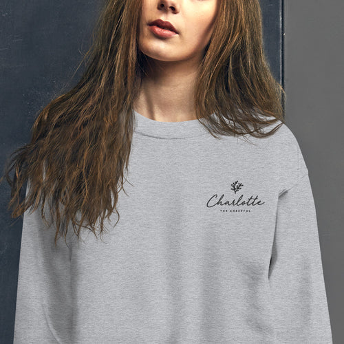 Charlotte Sweatshirt | Personalized Name Embroidered Pullover Crewneck