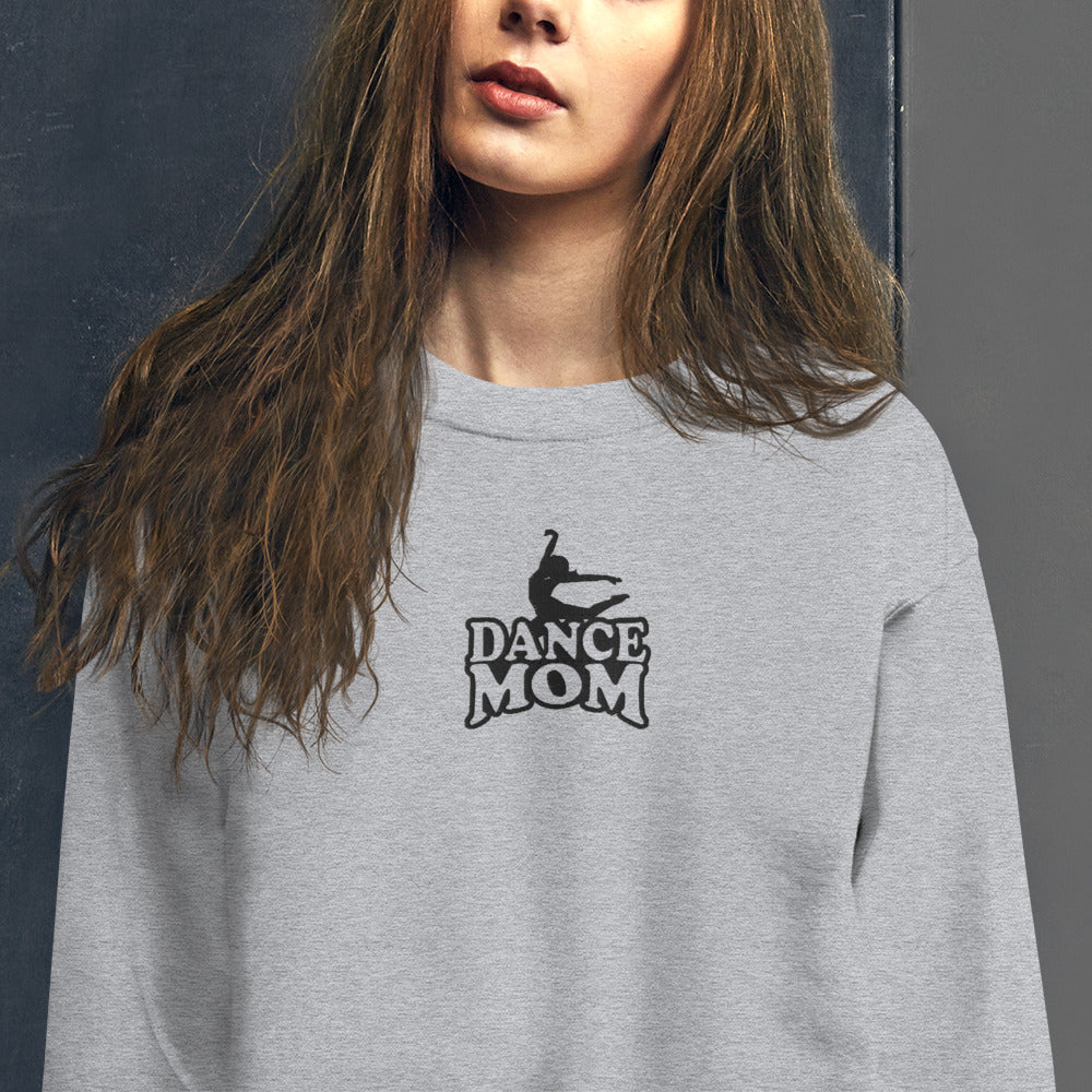 Dance Mom Sweatshirt Embroidered Pullover Crewneck for Women