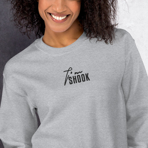 I'm Shook Meme Sweatshirt Custom Embroidered Pullover Crewneck