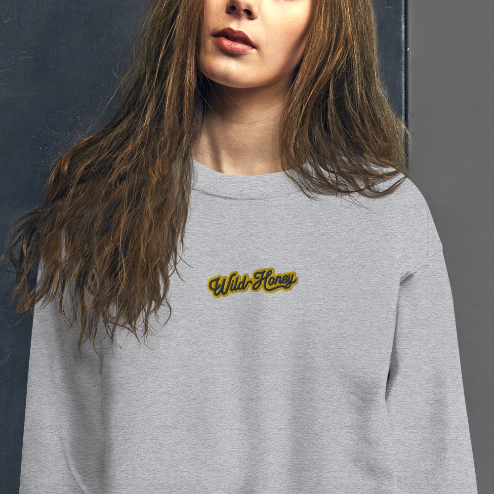 Wild Honey Sweatshirt Custom Embroidered Pullover Crewneck