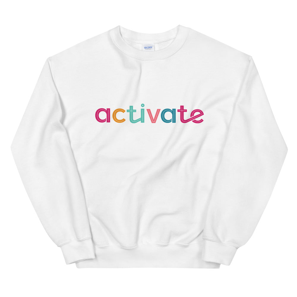Activate Sweatshirt | Motivational Activate Mind Crew Neck