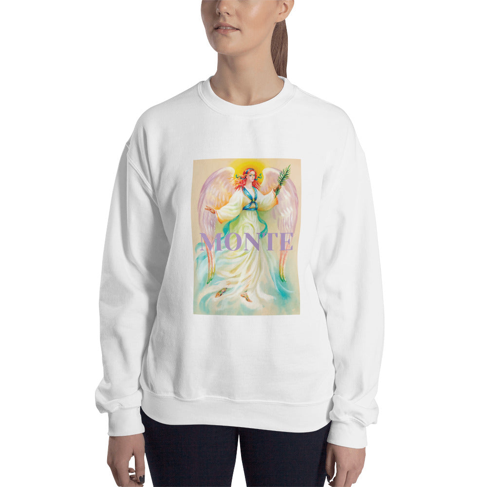 The Monte Romance Angel Crewneck Sweatshirt for Women