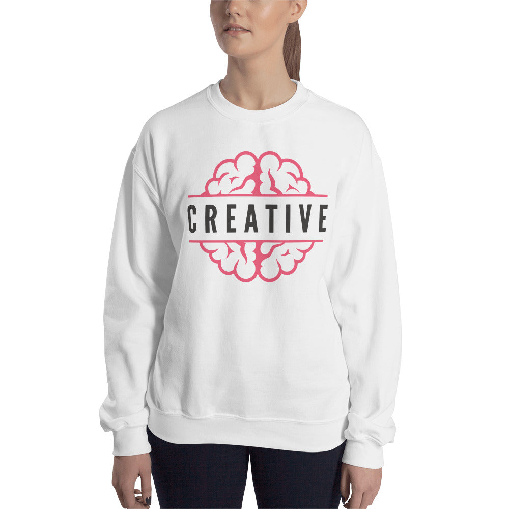 Creative Mind Crewneck Sweatshirt for Women