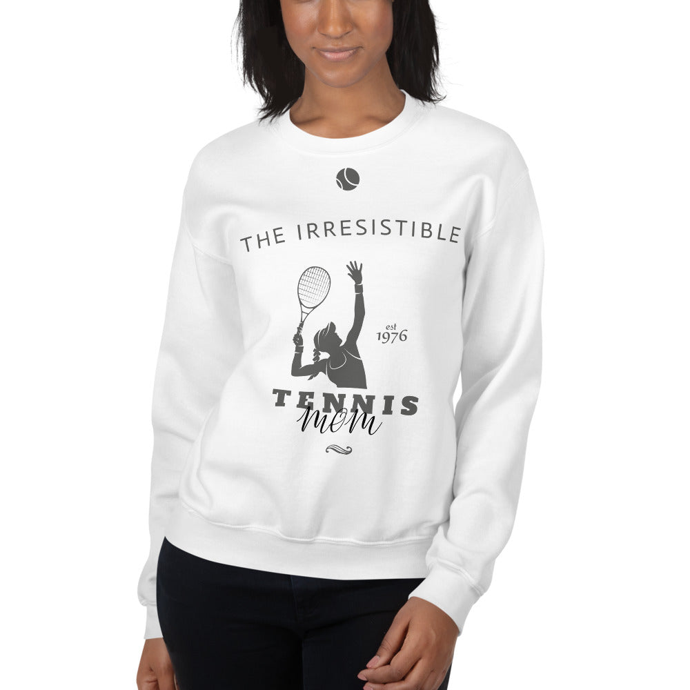 Irresistible Tennis Mom Crewneck Sweatshirt for Women