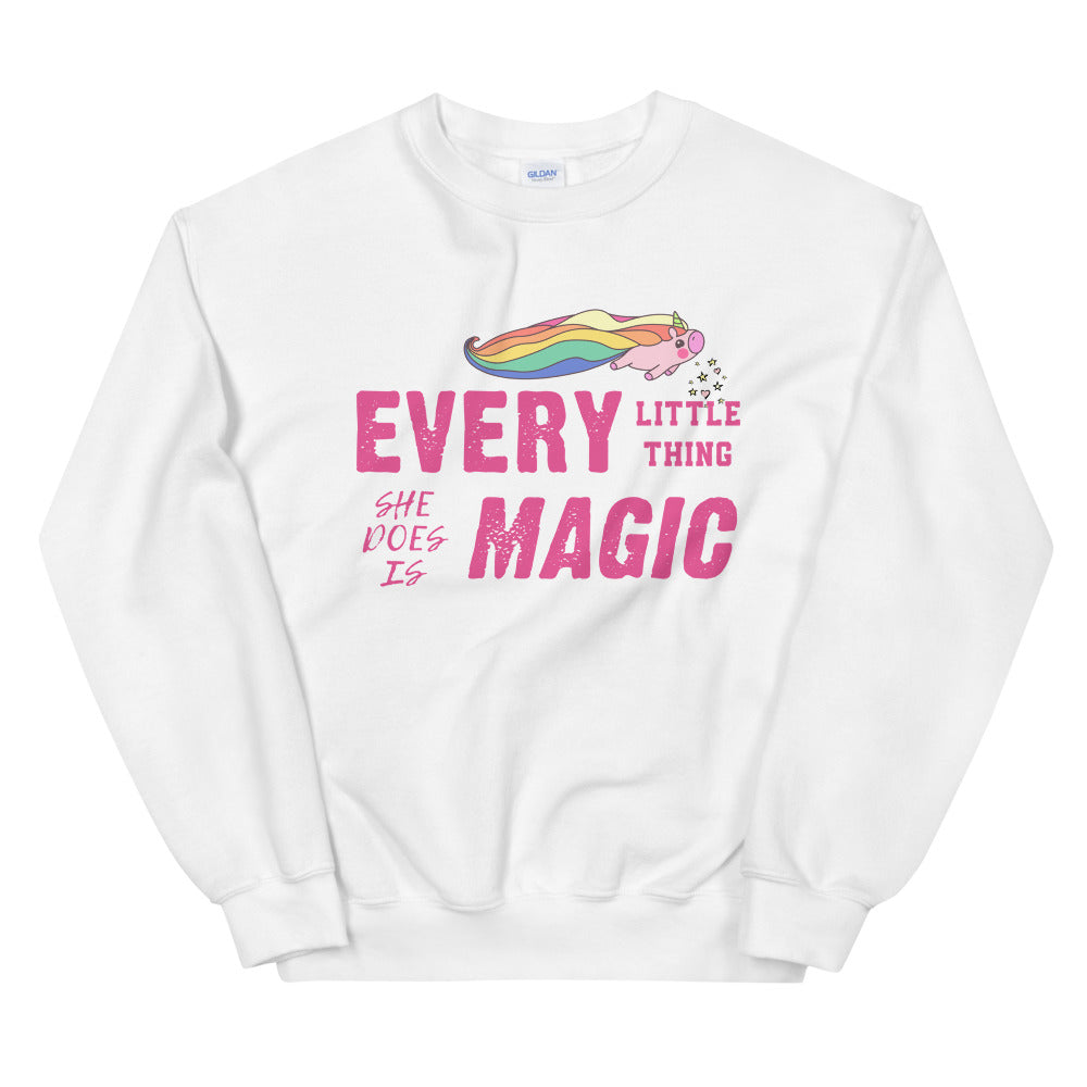 Piggy Unicorn Every Little Thing She Does is Magic Sweatshirt for Women
