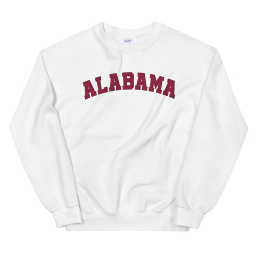 Alabama Sweatshirt | Campus Colors Alabama State Pullover Crewneck for Women