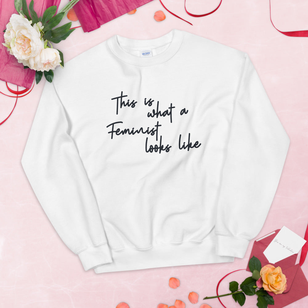 This is What a Feminist Looks Like Sweatshirt Crewneck Pullover for Women