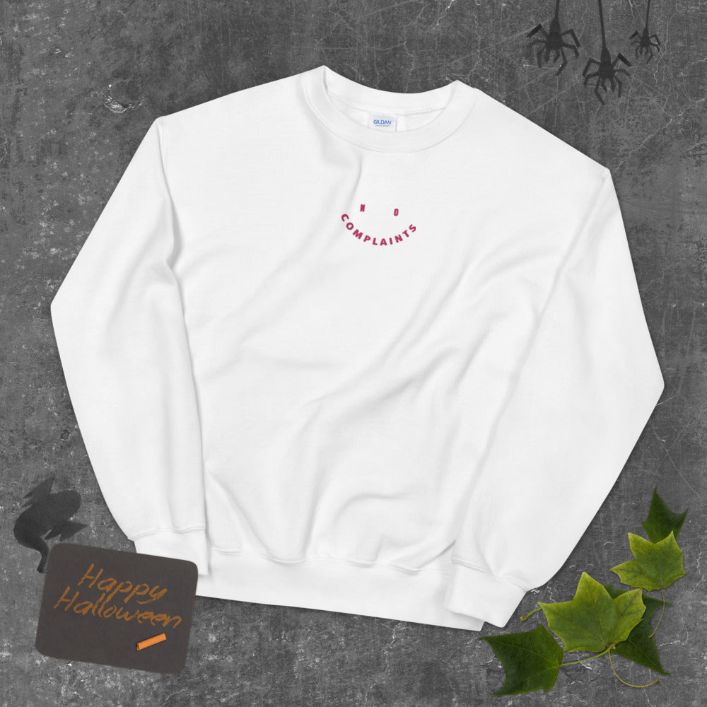 No Complaints Custom Embroidered Pullover Crewneck Sweatshirt