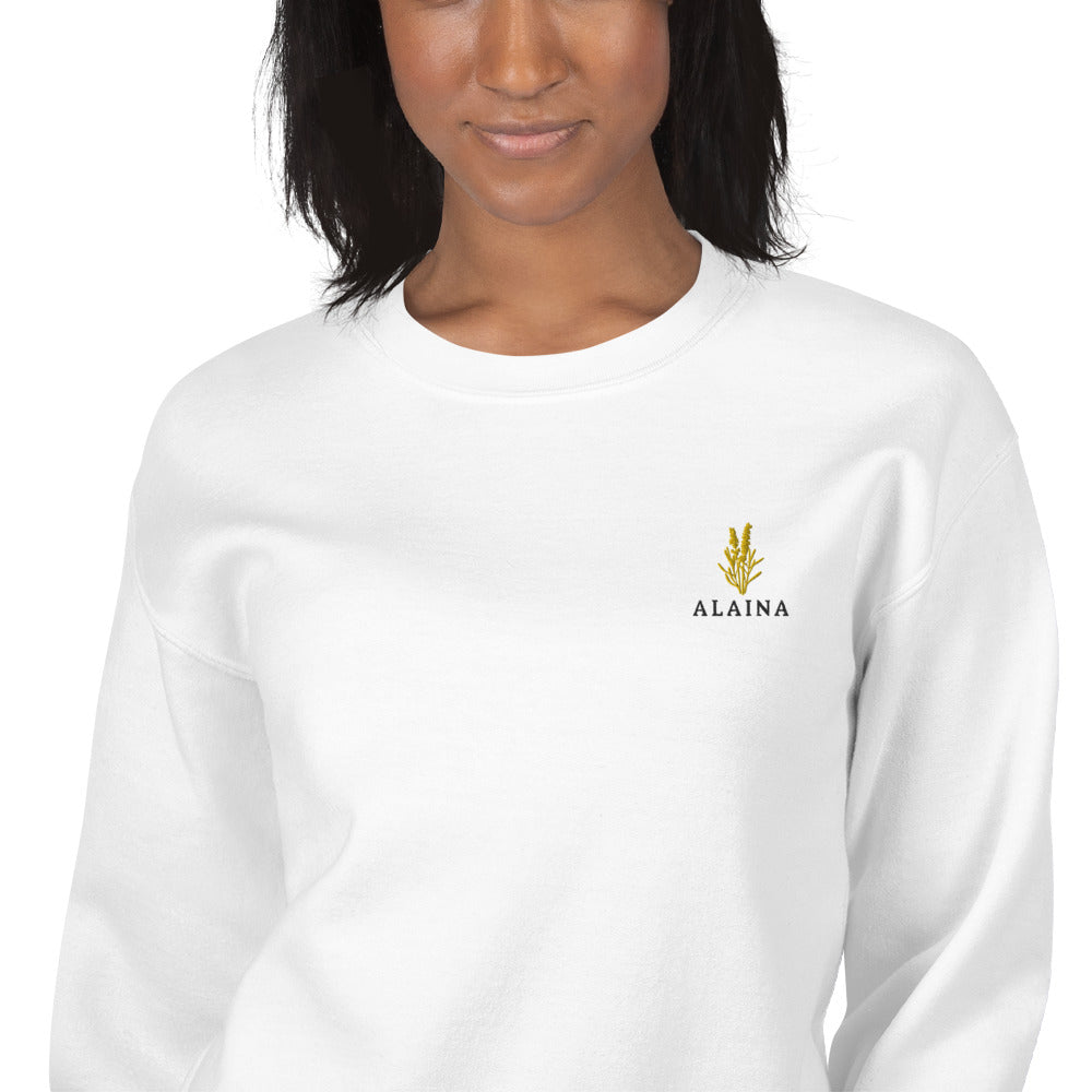 Alaina Sweatshirt | Personalized Name Embroidered Pullover Crewneck