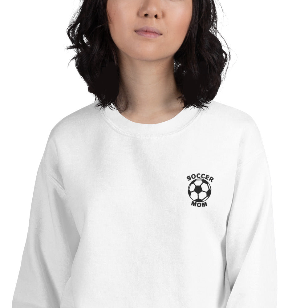 Soccer Mom Embroidered Pullover Crewneck Sweatshirt
