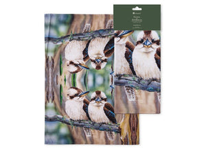 Fauna of Aus Kookaburras Kitchen Towel