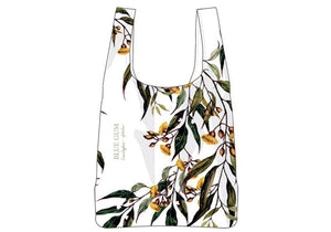 Aus Floral Emblems Blue Gum RPET Shopping Bag