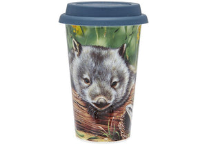 Fauna of Aus Wombat & Lizard Travel Mug