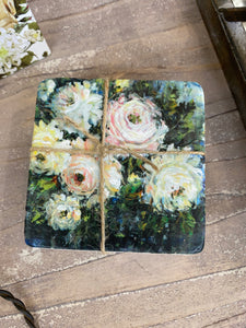 Roses 4pc Coaster Set