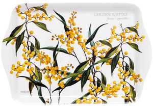 Aus Floral Emblems Wattle Scatter Tray