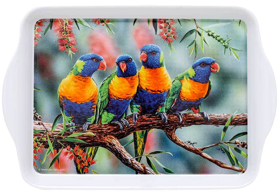 Aus Bird & Flora Lorikeet & B/brush Scatter Tray