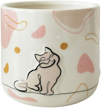 Load image into Gallery viewer, Linear Cat Planter Pink