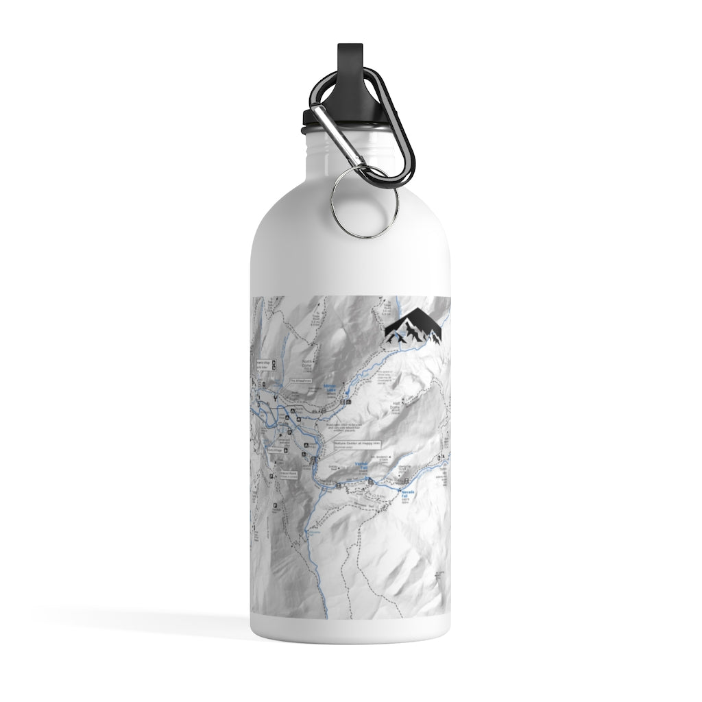 Yosemite Valley Map Stainless Steel Water Bottle