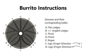 Burrito Portable Hangboard by Camp 4 Fingerz - Crag Life
