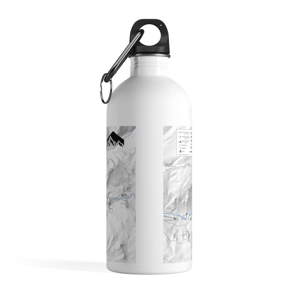 Yosemite Valley Map Stainless Steel Water Bottle - Crag Life