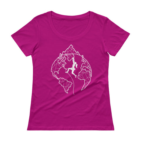 Women's World Scoopneck T-Shirt - Crag Life