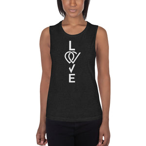 LOVE Ladies' Muscle Tank - Crag Life