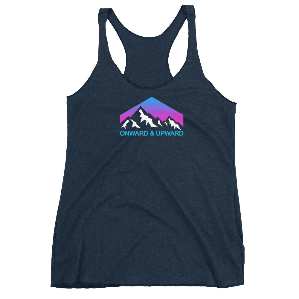 Onward and Upward Women's Racerback Tank - Crag Life