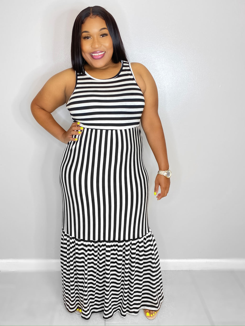 Stripes Your It Maxi Dress