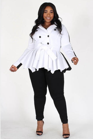 Poppington Peacoat (White)