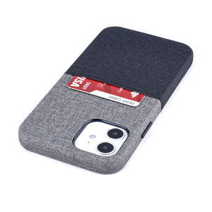 Luxe M1 Twill Canvas Wallet Case with 1 LayFlat Card Slot - iPhone