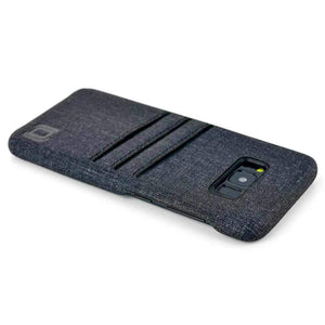 Canvas Card Case for Samsung Galaxy S8 & S8 Plus - Black Twill Samsung Case Dockem