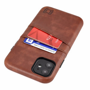 Exec M2 Wallet Case iPhone Case Dockem iPhone 11 Brown Yes