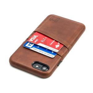 Exec M2 Wallet Case iPhone Case Dockem iPhone 8 Brown Yes