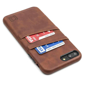 Exec M2 Wallet Case iPhone Case Dockem iPhone 8 Plus Brown No
