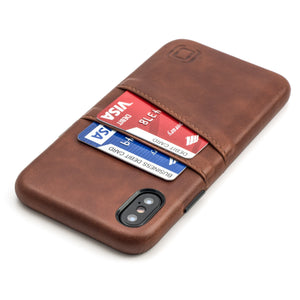 Exec M2 Wallet Case iPhone Case Dockem iPhone XS Brown Yes