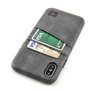 Exec M2 Wallet Case iPhone Case Dockem iPhone XS Grey Yes