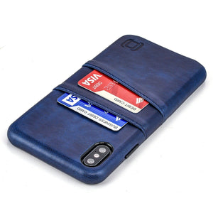 Exec M2 Wallet Case iPhone Case Dockem iPhone XS Max Navy Yes