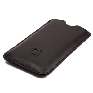 Executive Sleeve - Premium Synthetic Leather with Microfiber Lining - iPhones iPhone Sleeve Dockem iPhone 8 Dark Brown