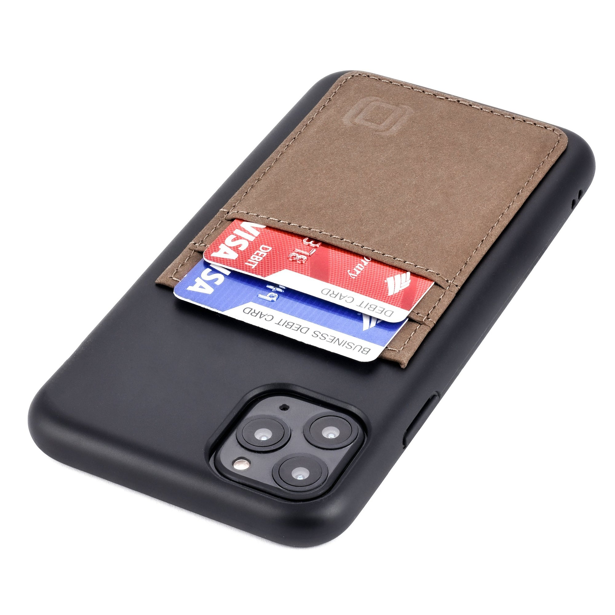 iPhone 11 Pro Max Bio M2B Wallet Case iPhone Case Dockem Black & Tan