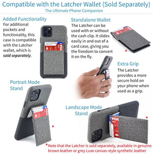 Luxe M1 Twill Canvas Wallet Case with 1 LayFlat Card Slot - iPhone iPhone Case Dockem